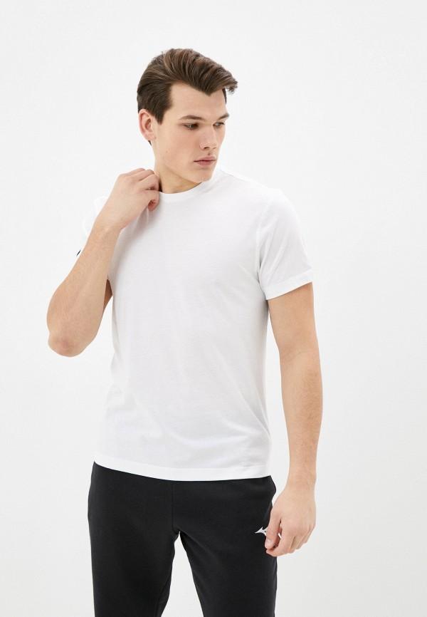 мужская спортивные футболка mizuno, белая