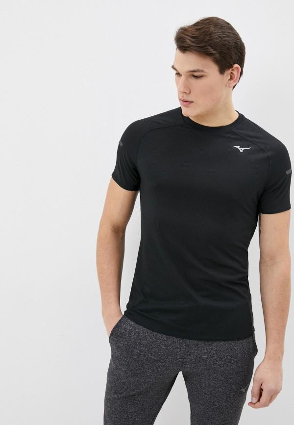 мужская спортивные футболка mizuno, черная