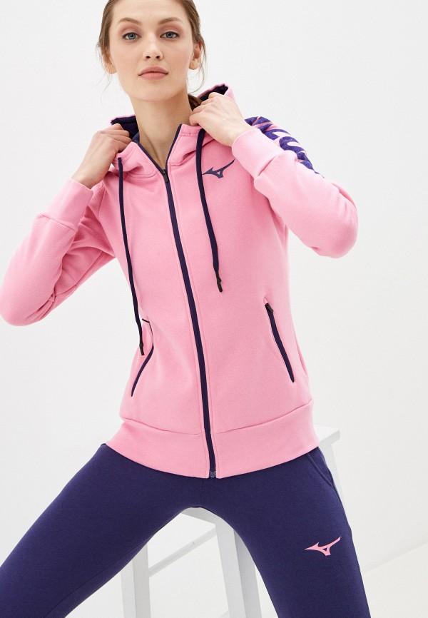 женская толстовка mizuno, розовая