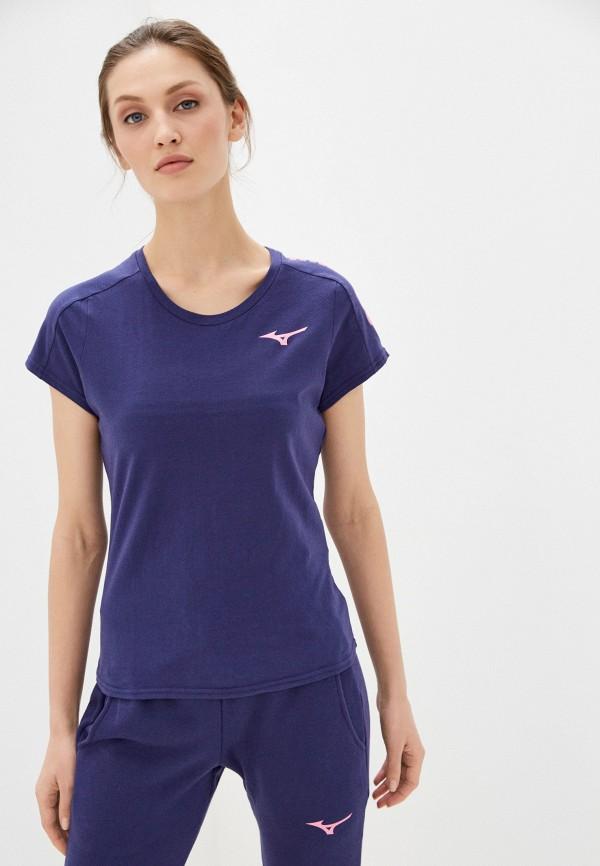 женская спортивные футболка mizuno, фиолетовая