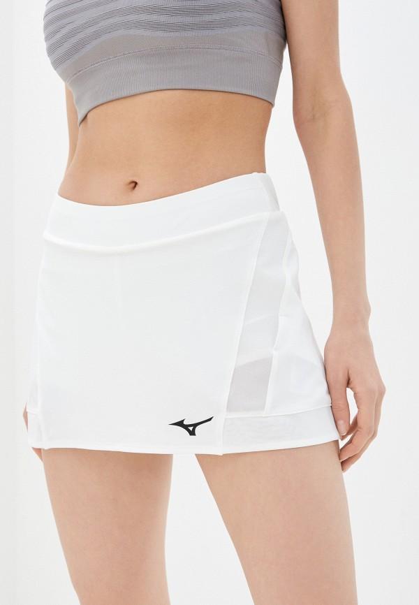 женская спортивные юбка mizuno, белая