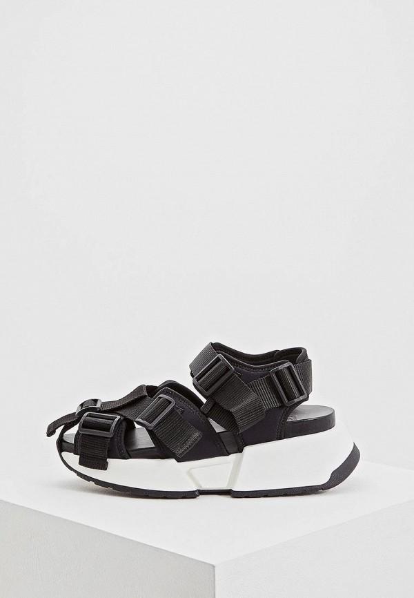 женские сандалии mm6 maison margiela, черные