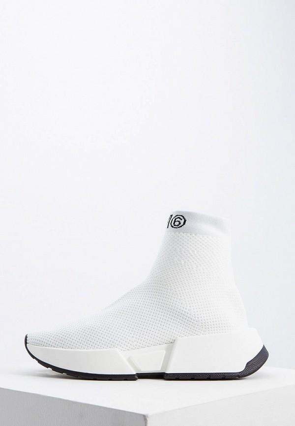 женские кроссовки mm6 maison margiela, белые