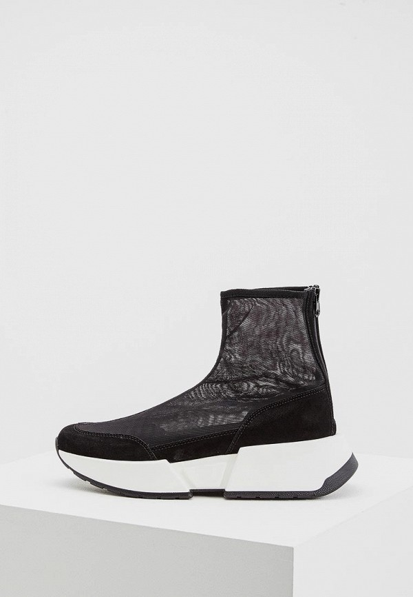 женские кроссовки mm6 maison margiela, черные