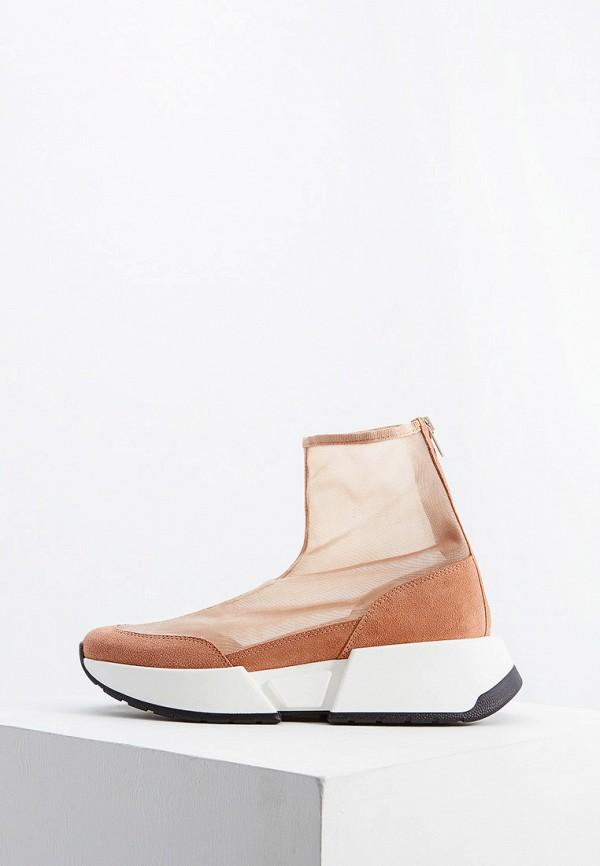 женские кроссовки mm6 maison margiela, бежевые