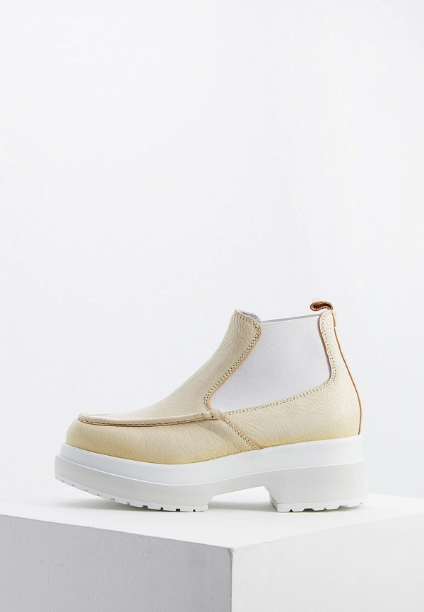 женские ботинки mm6 maison margiela, бежевые