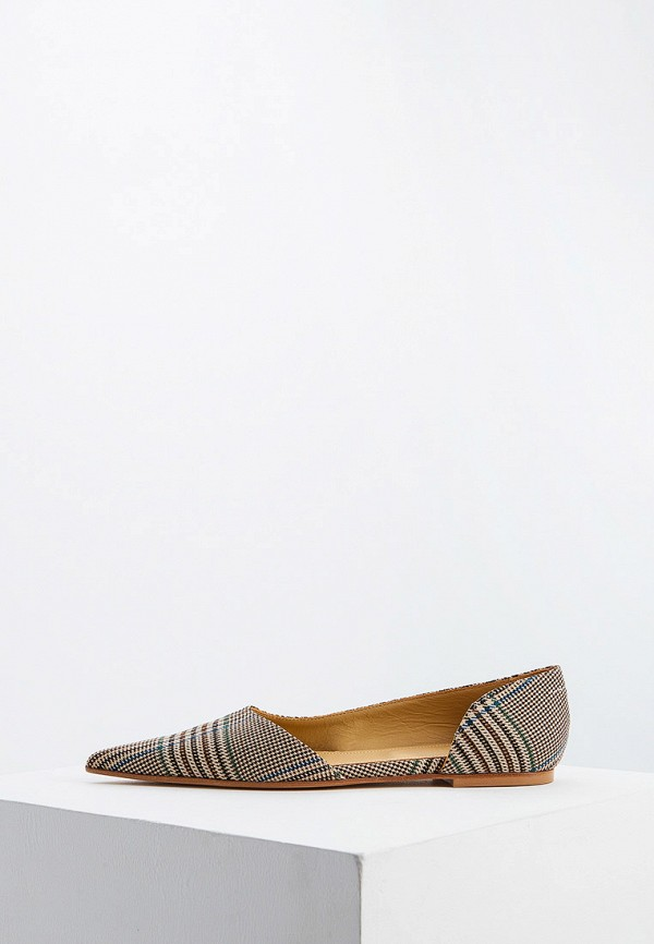 женские туфли mm6 maison margiela, коричневые