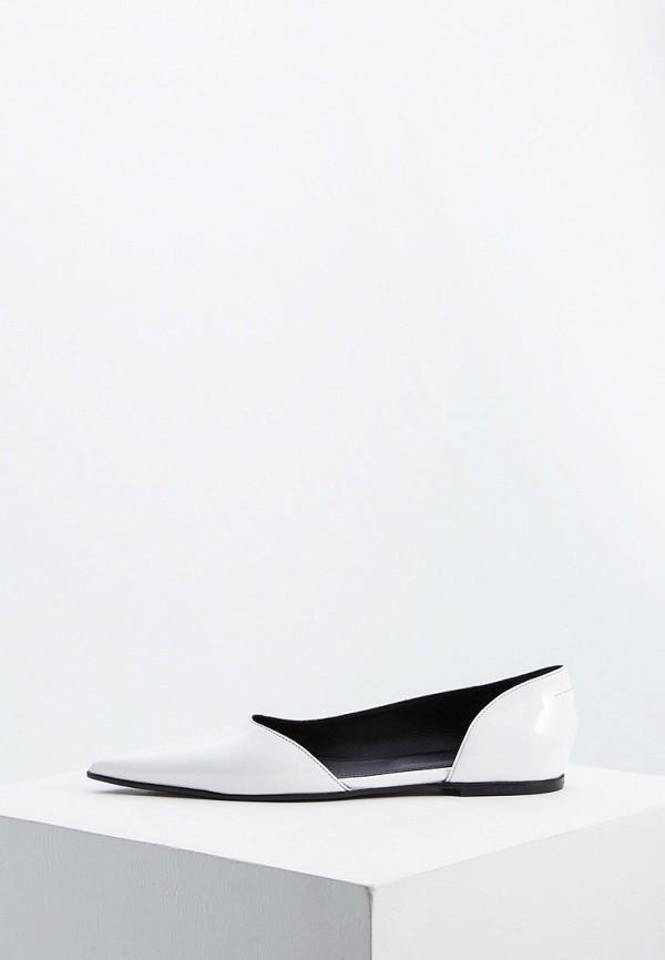 женские туфли mm6 maison margiela, белые