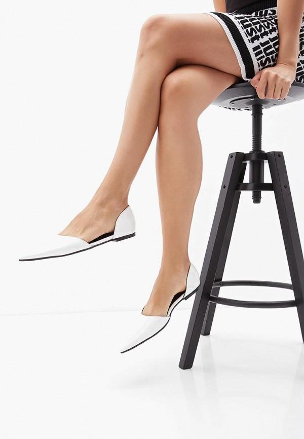 Фото 5 - женские туфли MM6 Maison Margiela белого цвета