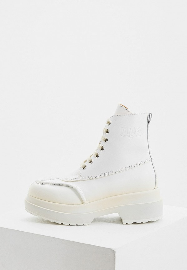 женские ботинки mm6 maison margiela, белые