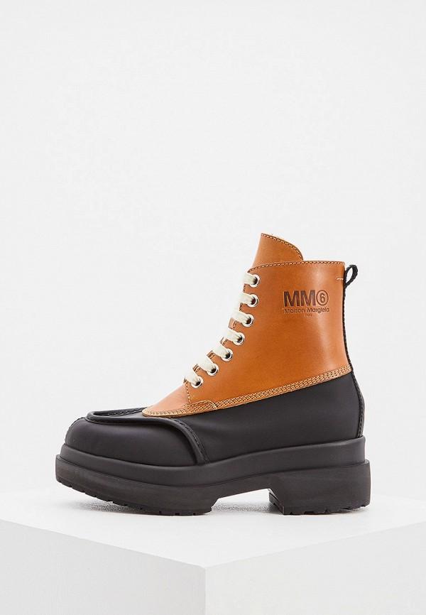 женские ботинки mm6 maison margiela, коричневые
