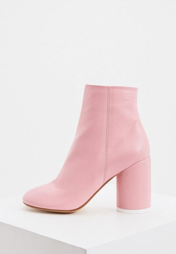 женские ботильоны mm6 maison margiela, розовые