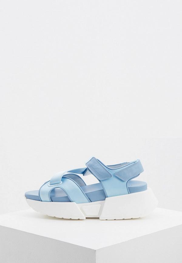 женские сандалии mm6 maison margiela, голубые