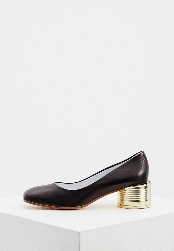 женские туфли mm6 maison margiela, черные