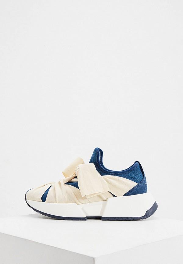 женские кроссовки mm6 maison margiela, синие