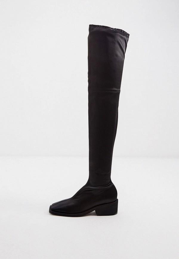 женские ботфорты mm6 maison margiela, черные