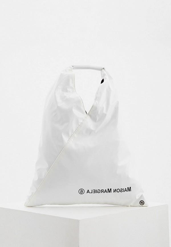 женская сумка mm6 maison margiela, белая