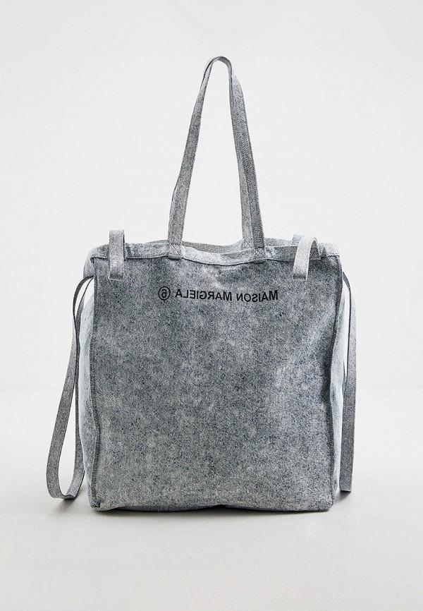женская сумка mm6 maison margiela, синяя