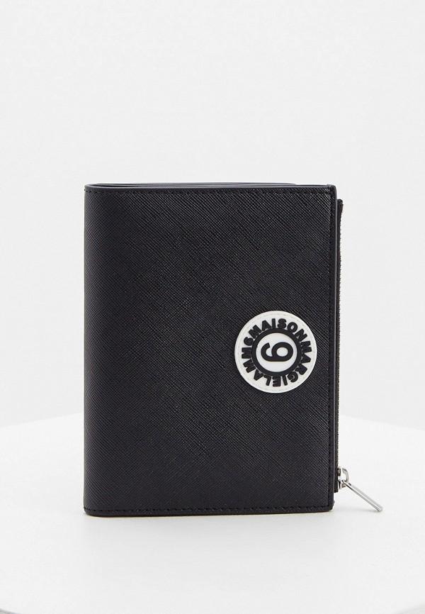женский кошелёк mm6 maison margiela, черный