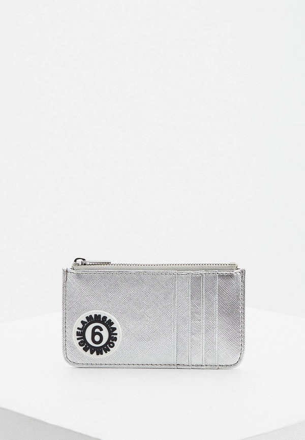 женский кошелёк mm6 maison margiela, серебряный