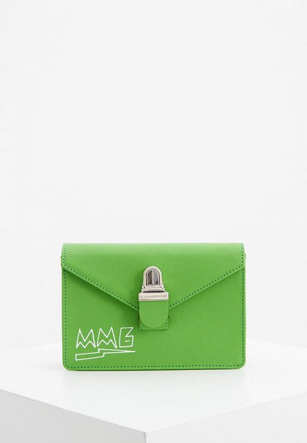 женская сумка mm6 maison margiela, зеленая