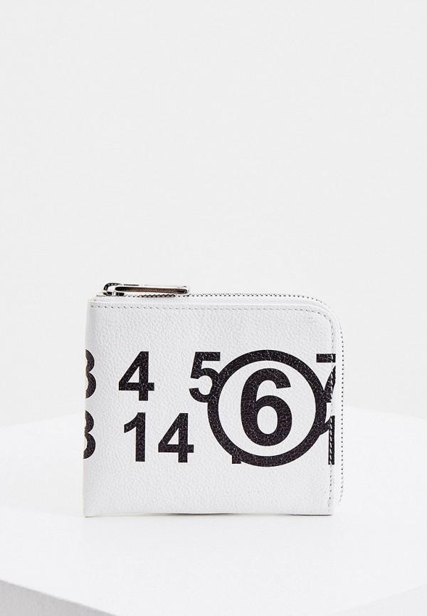 женский кошелёк mm6 maison margiela, белый