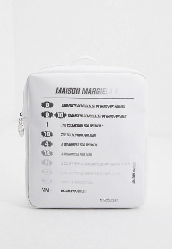 женский рюкзак mm6 maison margiela, белый