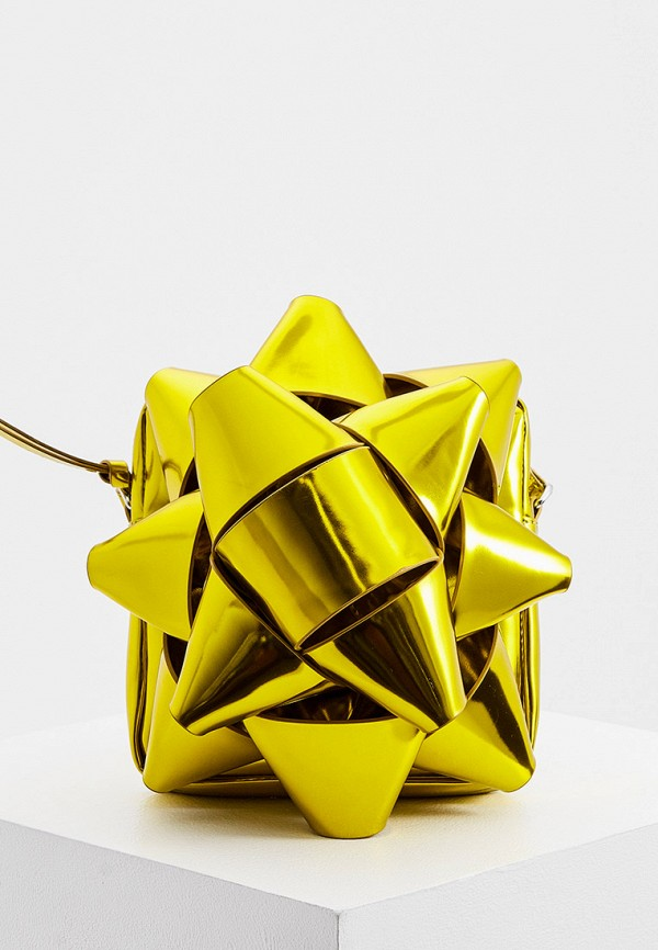 женская сумка через плечо mm6 maison margiela, золотая