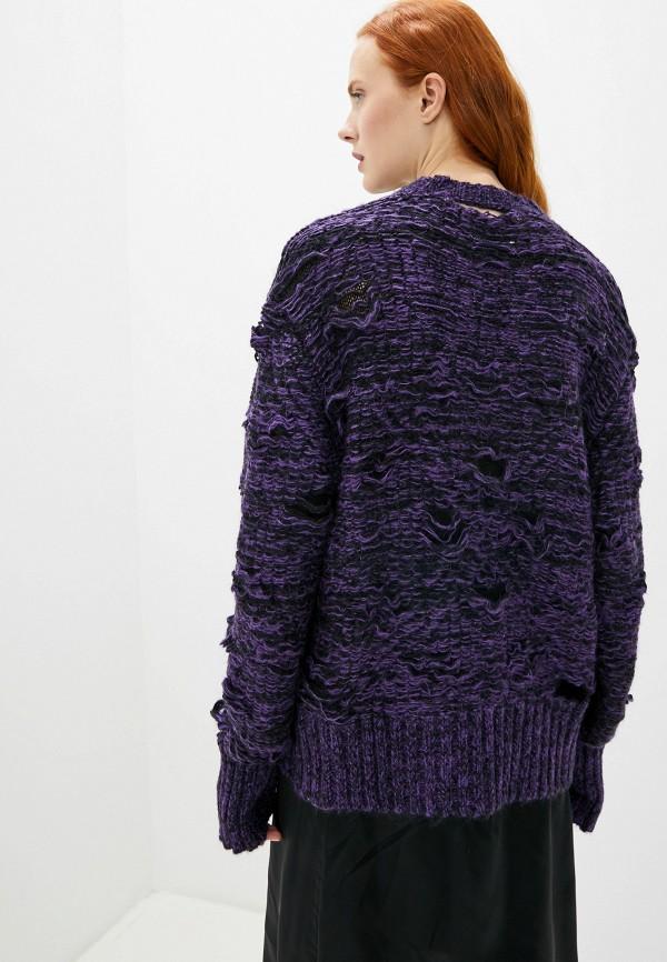 Фото 3 - женский джемпер MM6 Maison Margiela фиолетового цвета
