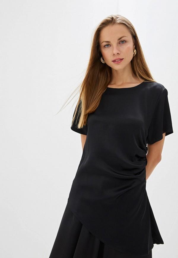 женская блузка mm6 maison margiela, черная