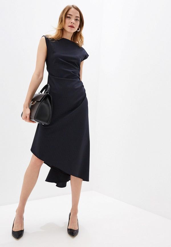 женское повседневные платье mm6 maison margiela, синее