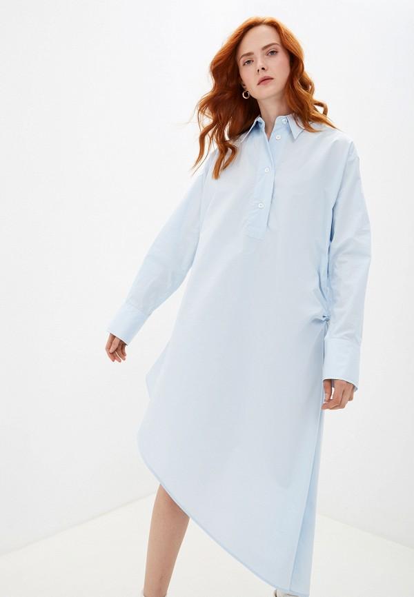 женское платье mm6 maison margiela, голубое