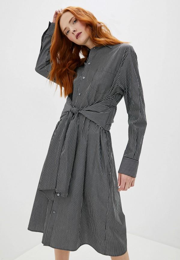 женское платье mm6 maison margiela, черное