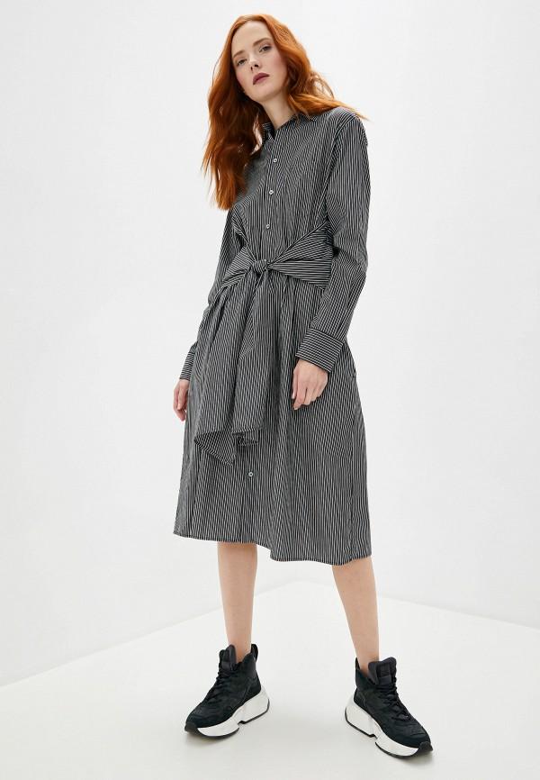 Фото 2 - женское платье MM6 Maison Margiela черного цвета