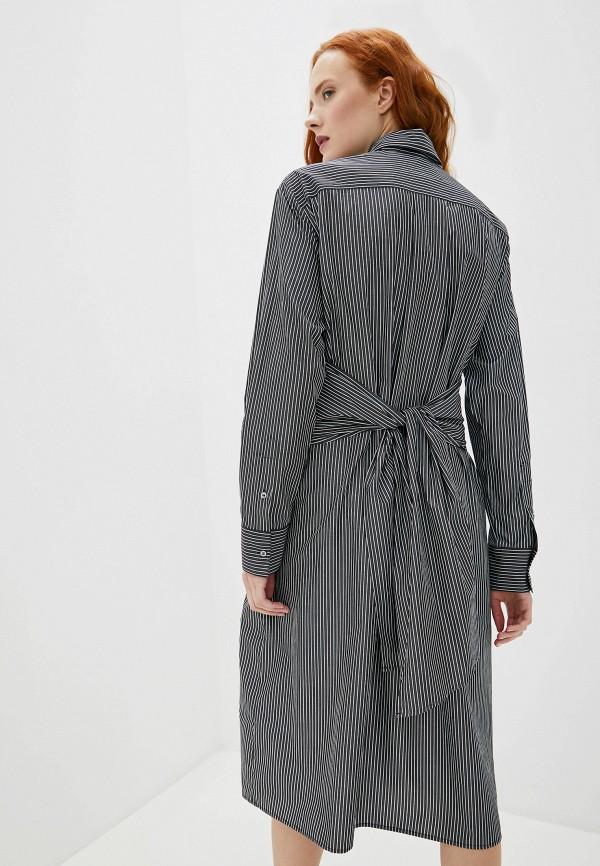 Фото 3 - женское платье MM6 Maison Margiela черного цвета