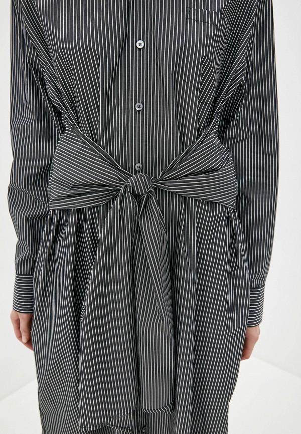 Фото 4 - женское платье MM6 Maison Margiela черного цвета