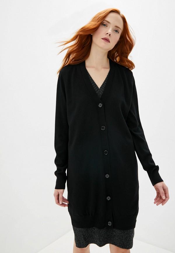 женское повседневные платье mm6 maison margiela, черное