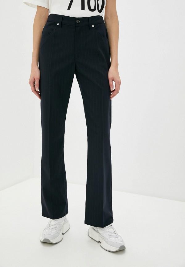 женские классические брюки mm6 maison margiela, синие