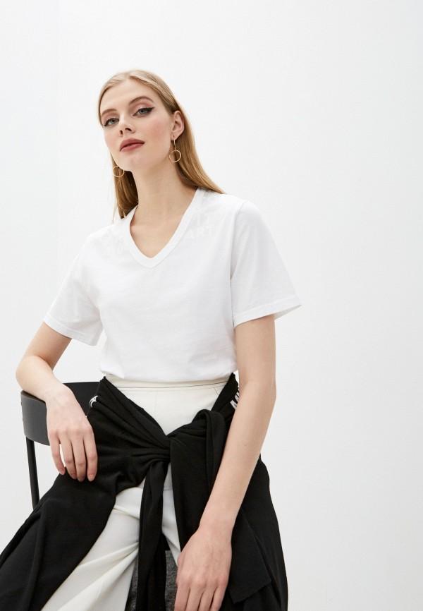 женская футболка mm6 maison margiela, белая