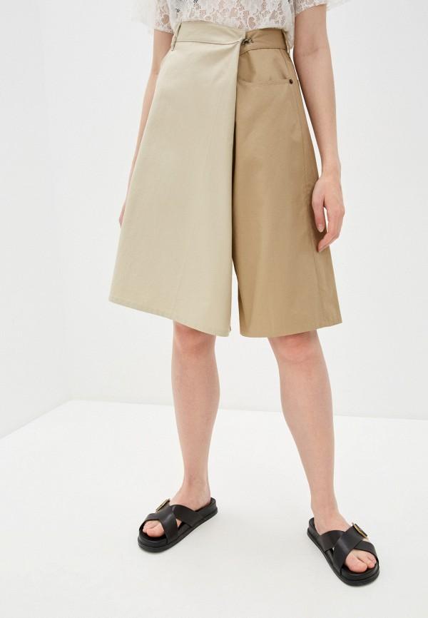 женские повседневные шорты mm6 maison margiela, бежевые