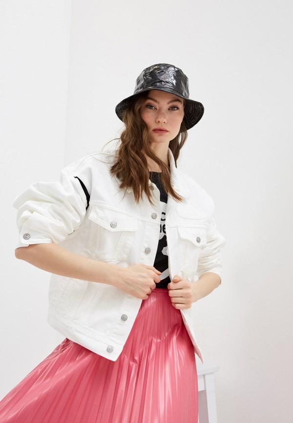 женская джинсовые куртка mm6 maison margiela, белая