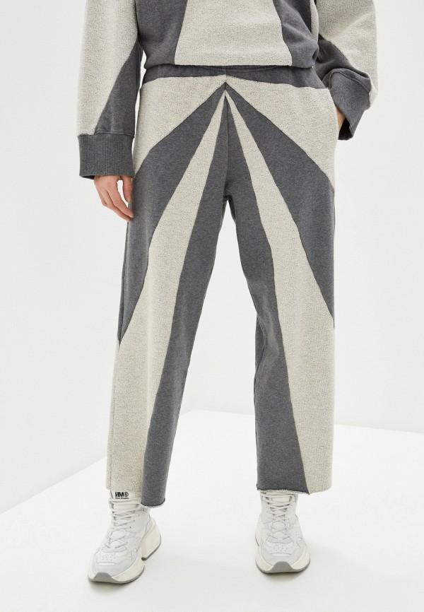 женские спортивные брюки mm6 maison margiela, серые