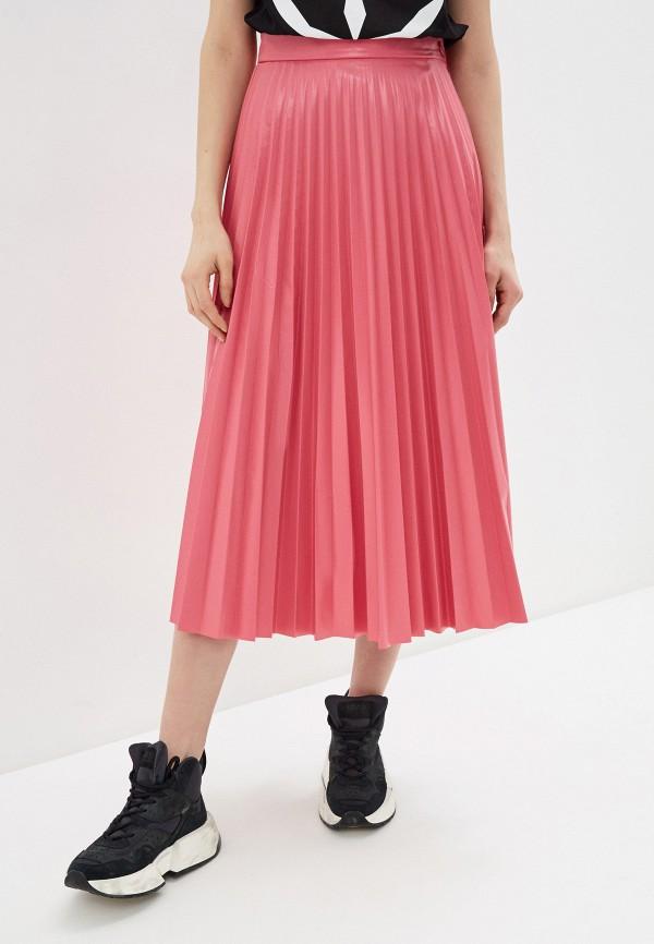 женская юбка mm6 maison margiela, розовая
