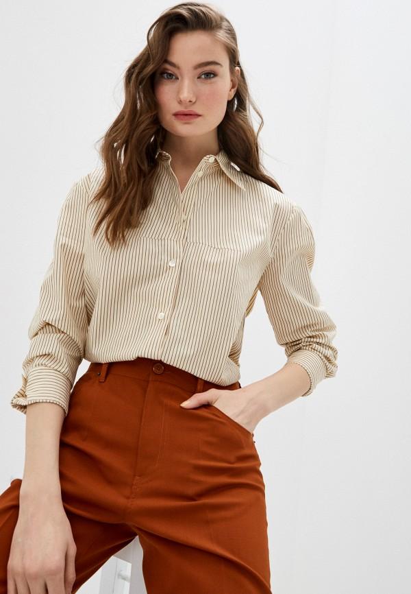 женская рубашка с длинным рукавом mm6 maison margiela, розовая