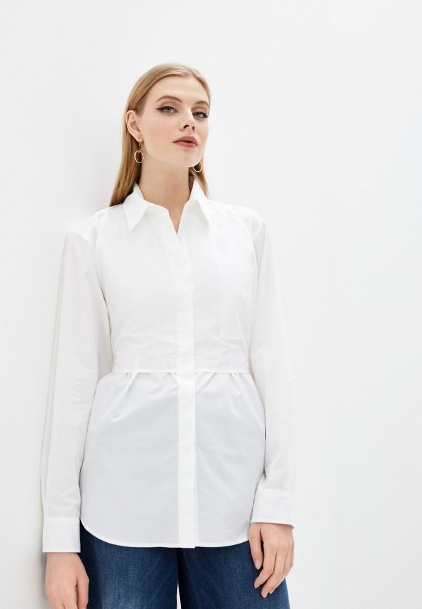 женская рубашка с длинным рукавом mm6 maison margiela, белая