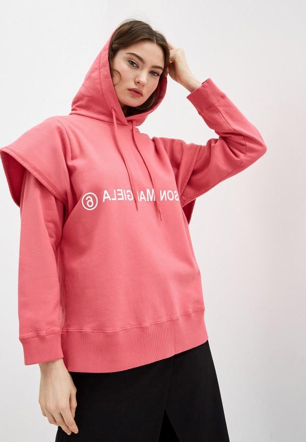 женские худи mm6 maison margiela, розовые