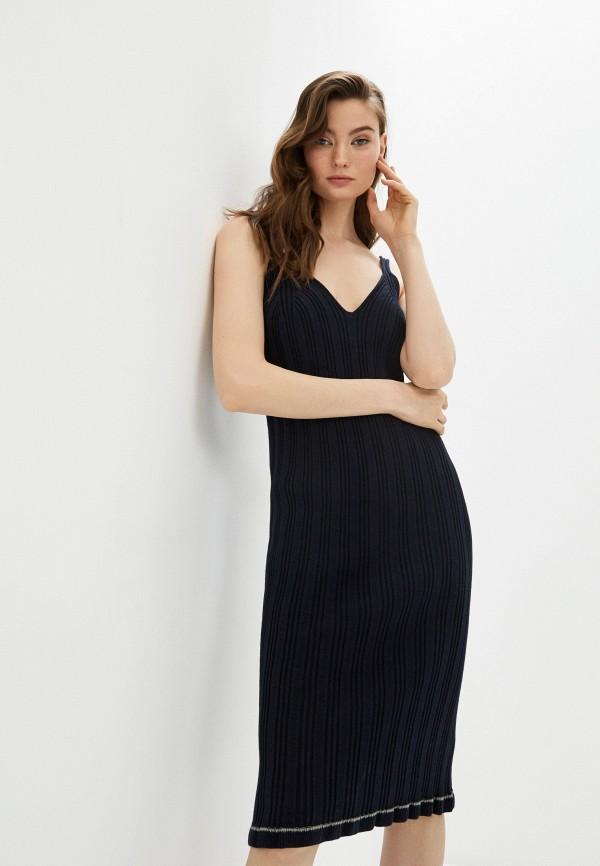 женское платье mm6 maison margiela, синее