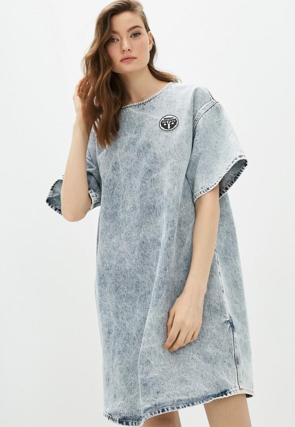 Платье джинсовое MM6 Maison Margiela MM6 Maison Margiela MM004EWHLKV3 mm6 maison margiela черное платье из хлопка