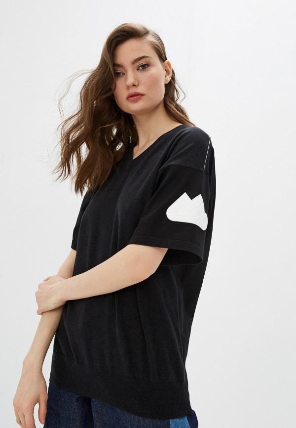 женская футболка mm6 maison margiela, черная