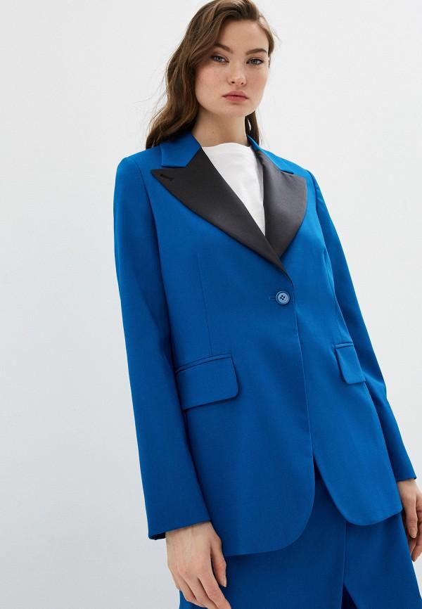 женский жакет mm6 maison margiela, синий